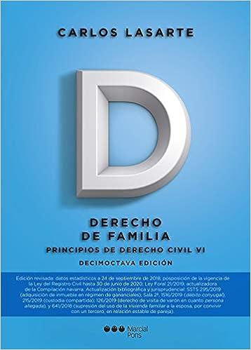 Principios De Derecho Civil Tomo Vi Derecho De Familia Manuales Universitarios Amazon Es Lasarte álvarez Carlos Libros