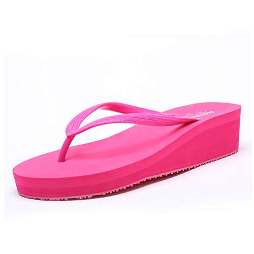 Flip Comfort 35 Color Women's Shoes B Heel Shoes amp; Summer Round Flat for Slippers Casual Size Flops Toe Beach xgqXZEqU