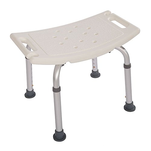 Adumly Elderly Adjustable Medical Bath Tub Shower Chair Bench Stool Seat 7Height