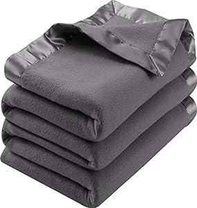 Utopia Bedding Sateen Polar Fleece Blanket from Utopia Bedding