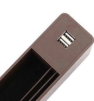 Baob/ë-Seitliche Organizer-Box f/ür Autositze,Organizer f/ür Autol/ücken,F/üller f/ür Autol/ücken F/üller f/ür Autol/ücken,Organizer f/ür Autotaschen und 2 USB-Ladestationen f/ür Mobiltelefone