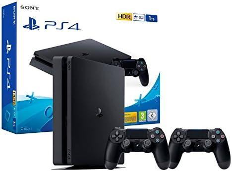 PS4 Slim 1Tb Consola Playstation 4 + 2 Mandos Dualshock 4 V2: Amazon.es: Videojuegos