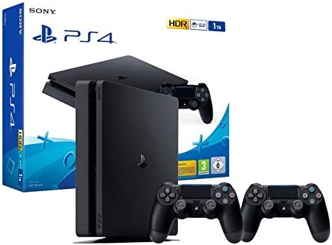PS4 Slim 1Tb Consola Playstation 4 + 2 Mandos Dualshock 4 V2 ...
