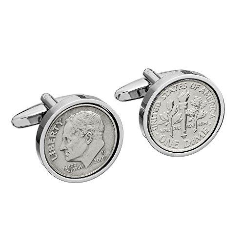 10th Wedding Anniversary - Tin Gift - Mint 2007 Coin Cufflinks by worldcoincufflinks