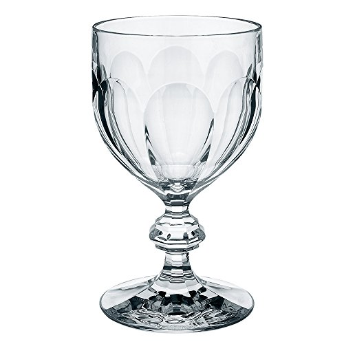 Bernadotte Claret Set of 6 Wine Glasses by Villeroy & Boch - Dishwasher Safe - Made in Germany Crystal Glass - Elegant Glassware for Bordeaux Wine, Cordials, and Cocktails Boch Crystal