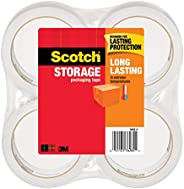 Long Lasting Storage Packaging Tape, 1.88 Inches x 54.6 Yards, 4 Rolls (3650-4)