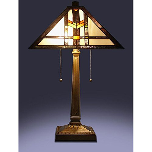Tiffany Style Mission Table Lamp / 60 Watt