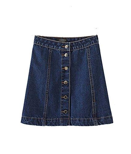 Minlovely Womens High Waist Denim A-Line Skirt Dark Blue38 - Long Island Ny Outlet
