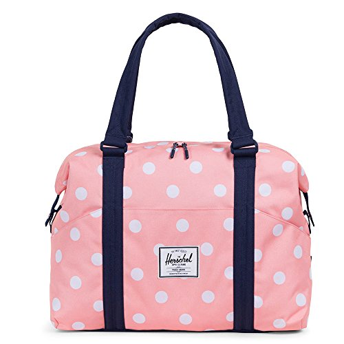 Herschel Supply Co. Strand Sprout, Peach Polka Dot/Peacoat (Strand Bag)