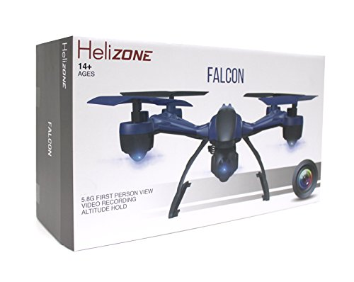Helizone Falcon 5.8 Ghz First Person View FPV Drone with Live LCD Monitor HD Video Recording Altitude Hold Headless Mode Quadcopter