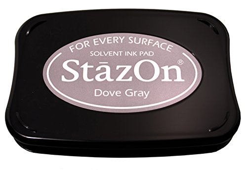 Tsukineko Full-Size StazOn Multi-Surface Inkpad, Dove Gray ()