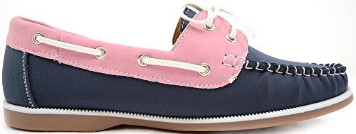 Azul vacaciones Snugrugs barco Casual Rosa womens De rosa Zapatos Marino Verano smart Ladies 00pqUv