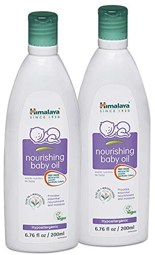 - Himalaya Nourishing Baby Oil, Lanolin Free & Mineral Oil Free 6.76oz/200ml (2 Pack)