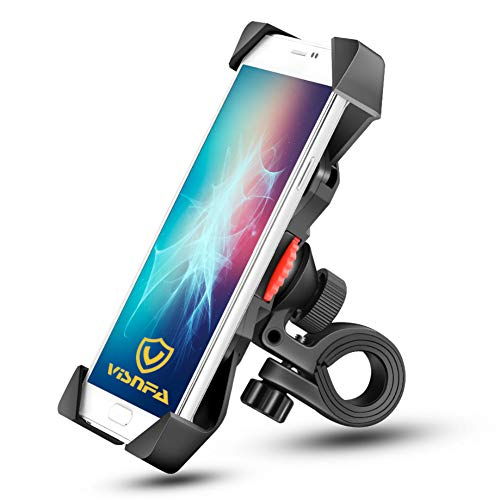 🥇 visnfa New Bike Phone Mount Anti Shake and Stable 360° Rotation Bike Accessories for Any Smartphone GPS Other Devices Between 3.5 and 6.5 inches