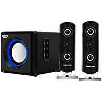 Sharper Image SBT2002BK 2.1 Computer Speakers with Subwoofer, Bluetooth, LED Ambient Light (Black)