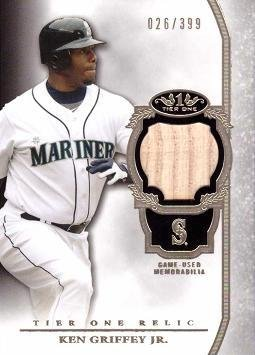 2013 Topps Tier One Relics #TOR-KGJ Ken Griffey Jr Game Used Bat Baseball Card - Only 399 made! - Near Mint to Mint
