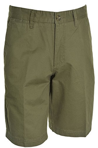 Boston Traders Mens Luxury Vintage Shorts (Olive, 34)