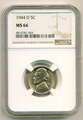 1944 D Jefferson Silver Nickel MS66 NGC