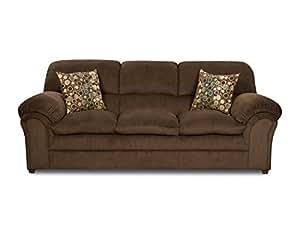 Simmons Upholstery 6150-03 Harper Umber Sofa