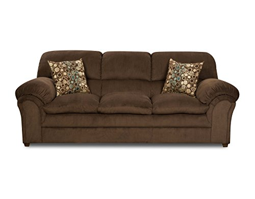 Simmons Upholstery 6150 03 Harper Umber Sofa Sofas And