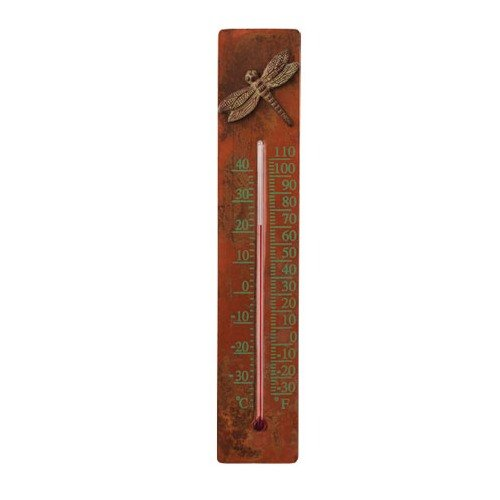 Ancient Graffiti Copper/Cast Brass Dragonfly Thermometer (Ancient Graffiti Thermometer)