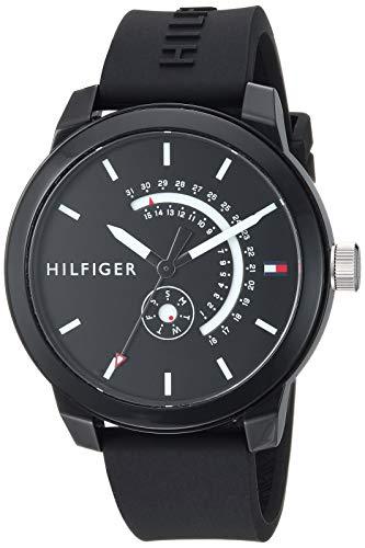 Tommy Hilfiger Men Denim Quartz Watch with Silicone Strap Black 194 Model 1791483