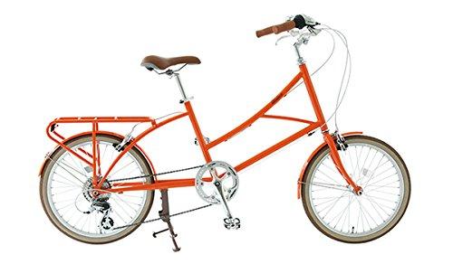 alohaloco(アロハロコ) オリジナル自転車(20インチ) HALEIWA(ハレイワ) シマノ製7段変速ギヤ サイズフリー(380mm) 適応身長140cm B01M4L82PV オレンジ オレンジ
