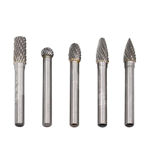5pcs/set Tungsten Carbide Rotary File Burr Rasp Drill Grinding Wood Grinder from Childplaymate