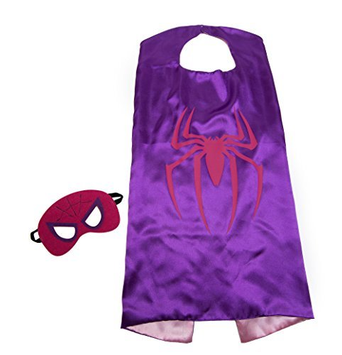 Spiderwoman Kids Cape and Mask Set Spider (Spider Woman Halloween Make Up)