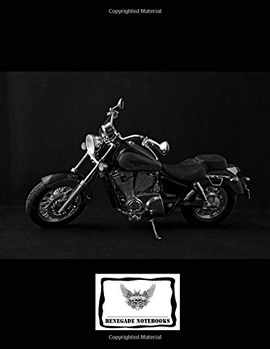 """Download Reversed Cornell Note Paper Notebook Cornell Note-Taking System 8.5x11"""" 150 Page: Classic Motorcycle Easy Rider Cover Design pdf epub"""