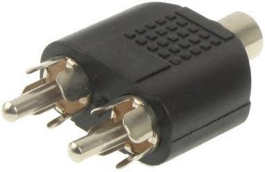 オーディオケーブル 2 RCAオスアダプタにRCAメス.