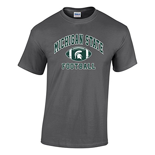 Elite Fan Shop NCAA Men's Michigan State Spartans Football T-shirt Dark Heather Michigan State Spartans Dark Heather Small ()