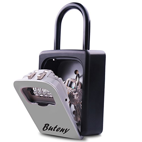 Key Lock Box, Combination Lockbox with Code for House Key Storage, Combo Door (Home Key Lock Box)