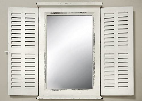 B B Mirror with Window Shutters Shabby Style