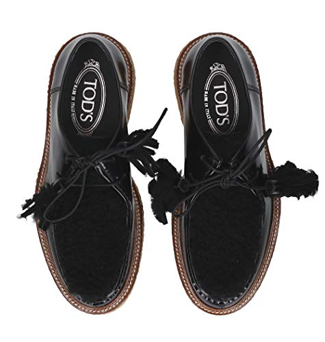 Cuir Xxw30b0ak41jzeb999 Chaussures Noir À Femme Lacets Tod's qAfHOvxwt