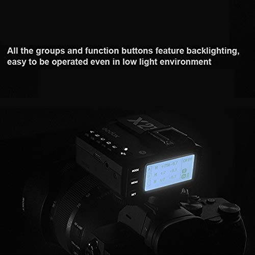 Godox X2T-C 2.4G TTL Wireless Flash Trigger with 2X X1R-C Controller Receiver for Canon,E-TTL II Function,Bluetooth Connect Smartphone APP Control X2T-C /& 2X1R-C