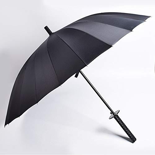 - Kotoss Samurai Ninja Katana Umbrella Samurai Swords Umbrella Handle Creative Strong Windproof Semi-Automatic Knife Umbrella Stylish Japanese Sun Rain Umbrella Decoration Gift