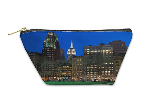 Gear New Accessory Zipper Pouch, Night Comes To The Empire State, Small, - 42nd Bryant Park