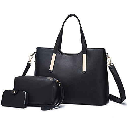 ZLLNSXKB Bolso Lady Vintage Bolsos De Hombro Simples Bolso Salvaje Crossbody Mochila Vintage Black
