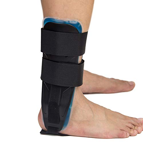Gel Ankle Stirrup Brace Stabilizer Support for Reduce Ankle Swelling and Inflammation, Relief Sprains and Arthritis Pain