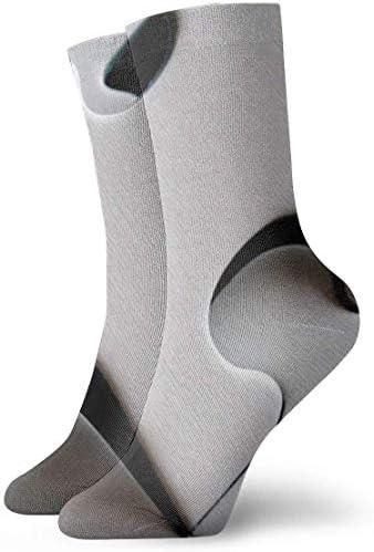 パズルパーツ形状通気性足首ソックス30 cm綿運動クルーソックス男性、女性、子供用