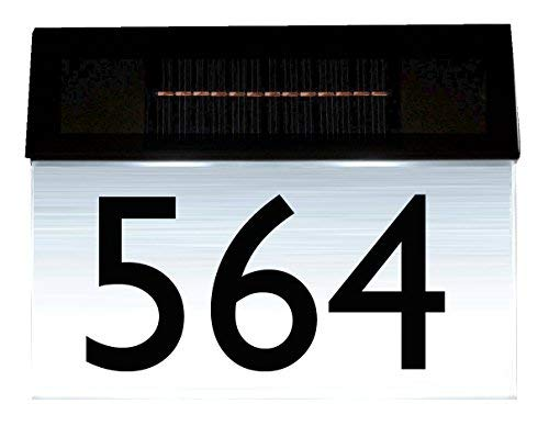 Solar House Number Sign - Combi (Number ONLY)