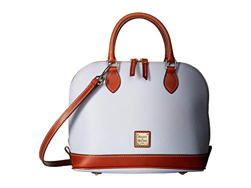 - Dooney & Bourke Pebble Grain Zip Zip Satchel Glacier Blue