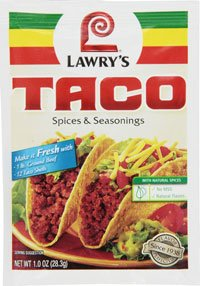 Lawry's Taco Spices & Seasonings, 1 oz Packets, 24 ct by Lawry's
