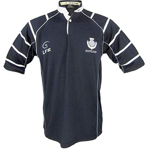 5c09265718a Live for Rugby Mens Scotland Breathable Rugby Shirt