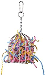 Super Bird Creations 6-1/2 by 3-Inch Mini Stainless Steel Treat Cage Bird Toy, Small