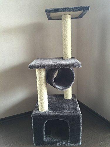 """Lemio - Árbol para gato """"Middle Pipe"""" rascador para gatos (gris)"""