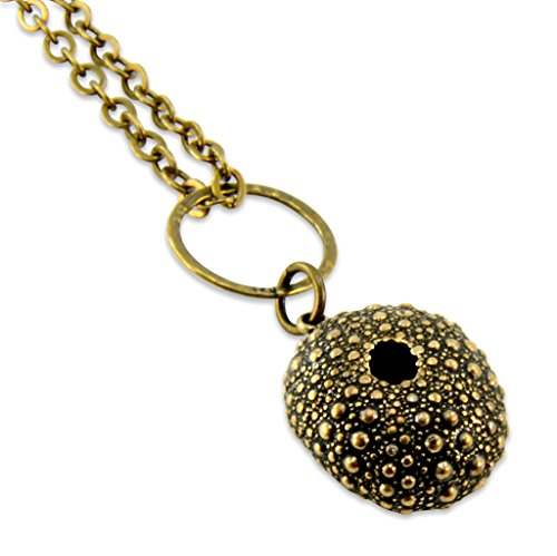 - Sea Urchin Necklace - Bronze Sea Urchin Pendant