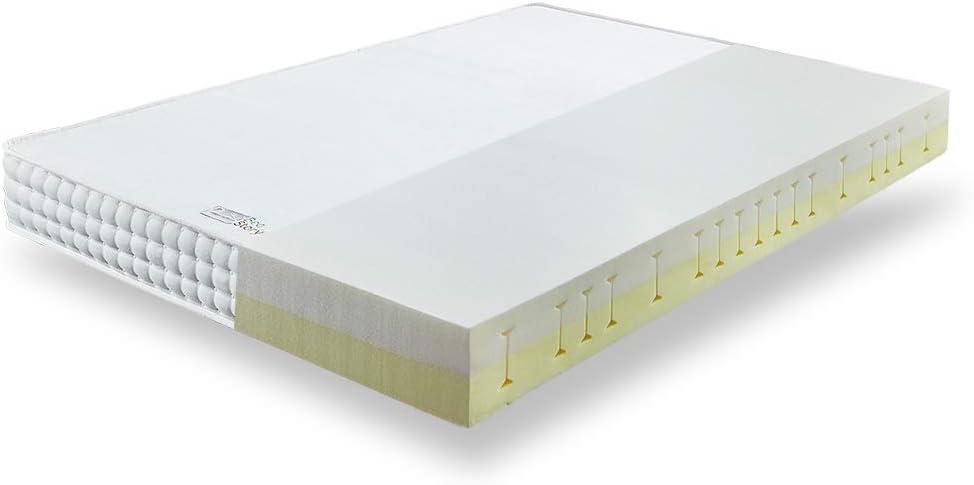 BedStory - Colchón ortopédico de espuma fría con 7 zonas (90 x 200 cm, dureza media H2&H3), color blanco