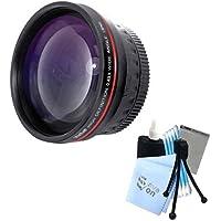 Vivitar Series 1 RedLine HD 0.43X Wide Angle Lens w/ Complete Cleaning Kit for Panasonic FZ18 FZ28 FZ35 FZ38 Cameras+Adapter